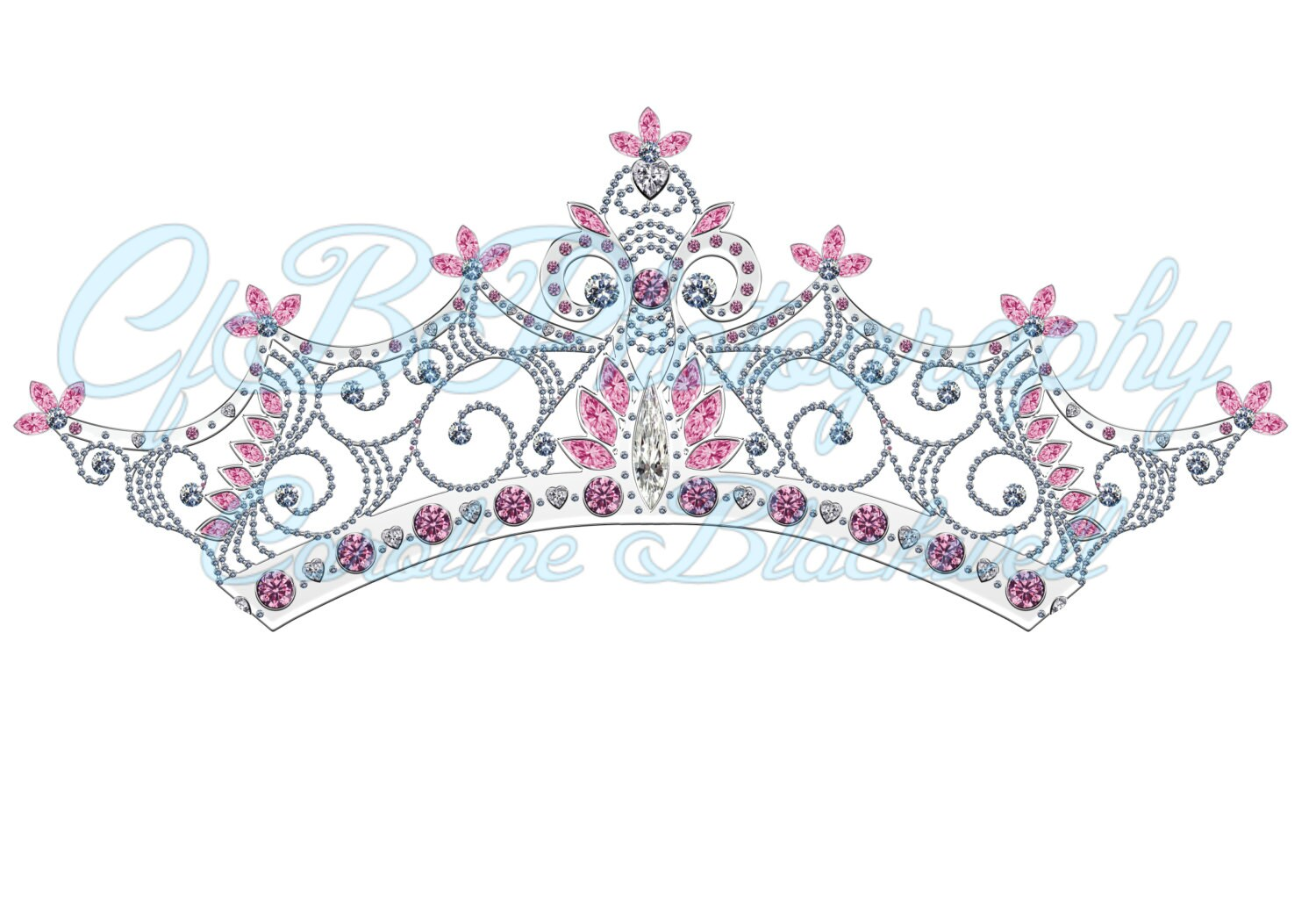 7 Princess Crowns Pngles Instant Download Etsy