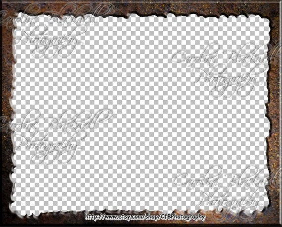 Photoshop Frames Rustic Theme Png Files Etsy