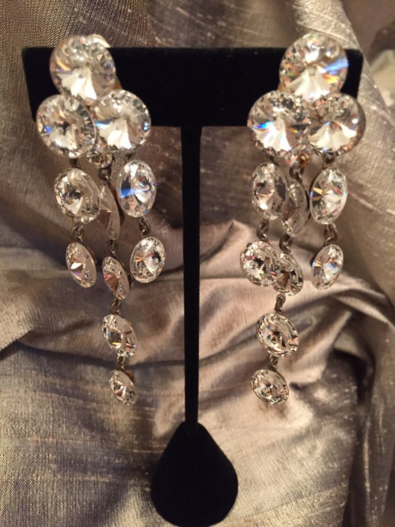Austrian Crystal Chandelier Earrings