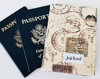 Passport cover - Small travel wallet - Passport holder - Family travel wallet - Travel wallet - Double passport cover - Small wallet - cover