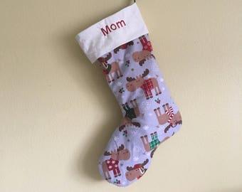 Personalized Moose Stocking