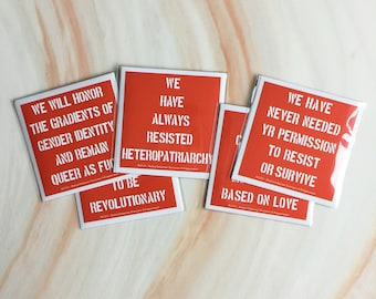 """4"""" Resistance Stickers - 5 Pack"""