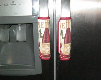 Refrigerator Door Handle Covers with Velcro Closure decorative clever clean and simple
