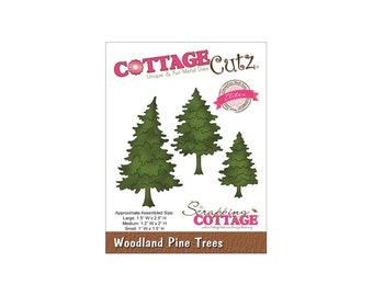 """3.5/""""x3.5/"""" Cottagecutz Die-birch Trees /& Deer"""
