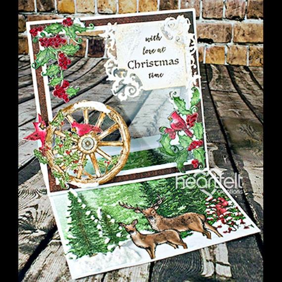Lot jeu de créations matrices + timbre sincères créations de ~ vacances festives, HCD1-7146 + HCPC3792 057a04