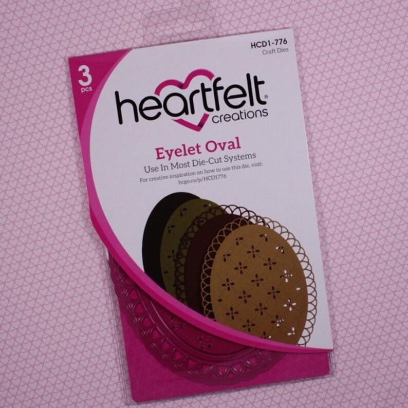 Heartfelt Creations Cut/&Emboss Dies By Spellbinders ~ Eyelet Oval HCD1 776