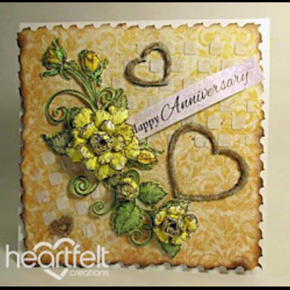 HCD1 770 ~ RETIRED! Heartfelt Creations Cut/&Emboss Dies Enchanted Dragonflies