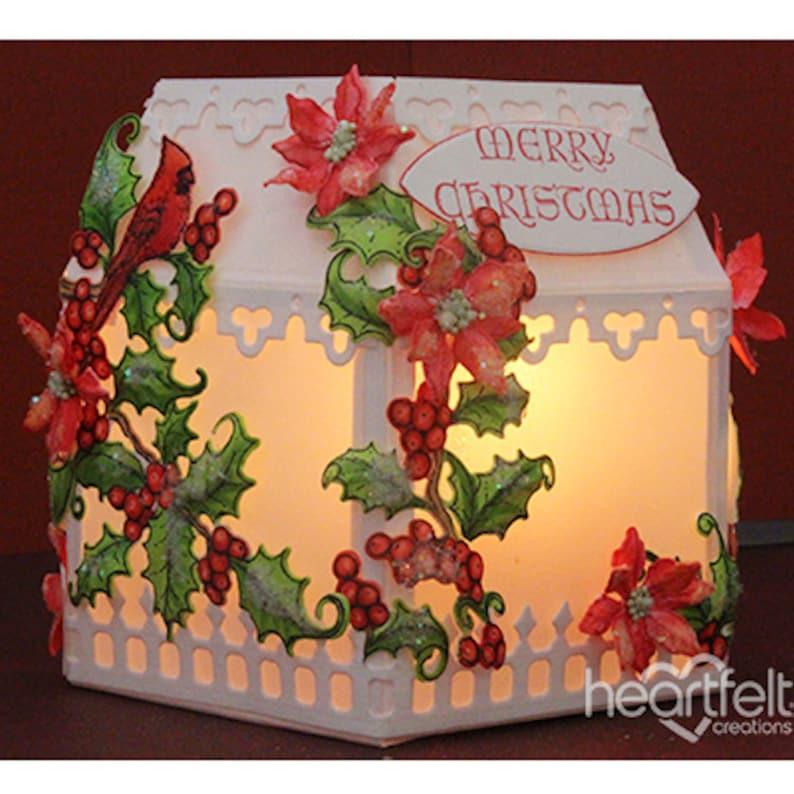 HCD1-7176 Heartfelt Creations Cut /& Emboss Dies Poinsettia /& Holly Clusters