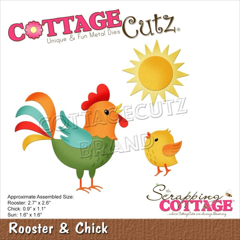Egg Hunt Bunny Rooster Chick Duckling CottageCutz Dies Easter Spring Theme CHOOSE ONE