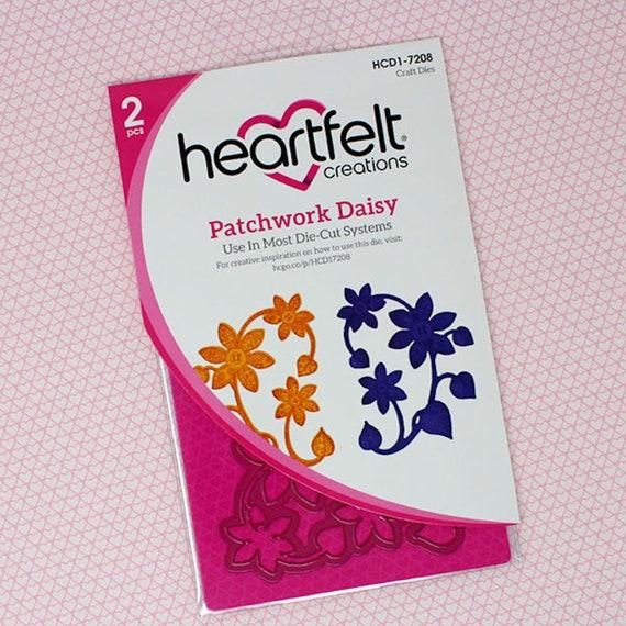 Heartfelt Creations Spellbinders Die ~ PATCHWORK DAISY BORDER ~ HCD1-7209