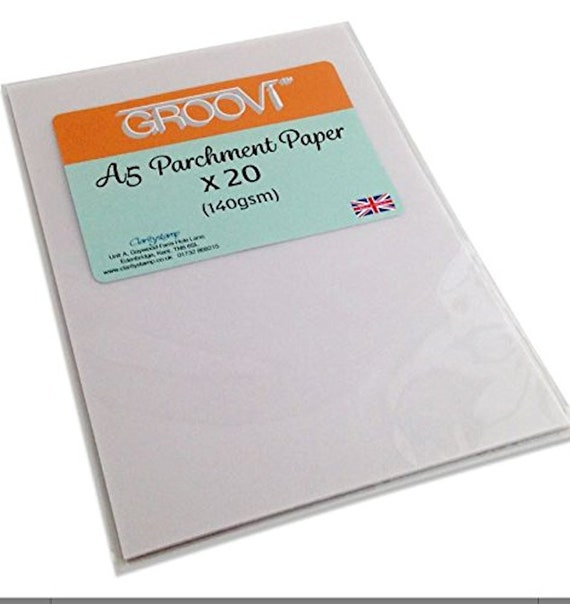 Groovi Parchment Craft Paper Choose One A5 X 20 Sheets A4 X Etsy