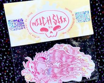 Witch Stix ///\\\ 5 witch-themed stickers