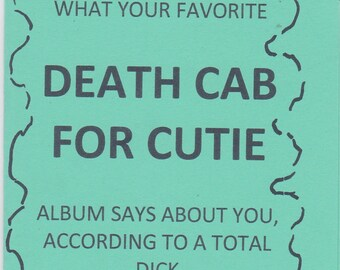 Death Cab for Cutie Zine