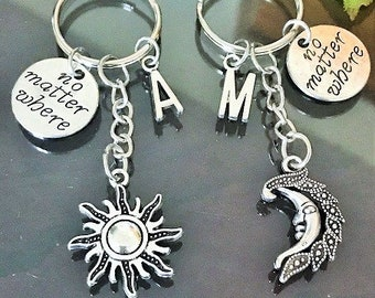 SALE - Set of 2 Sun and Moon Keychains a2e861351