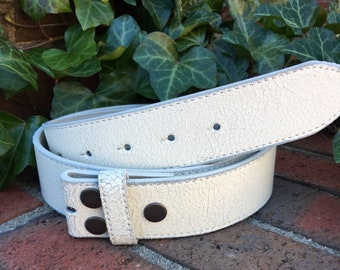 e0f9d841e9c0 White Distressed Leather Belt strap belt with snaps snap belt size small  medium large leather belt women s belt mens belt 1.5 inch