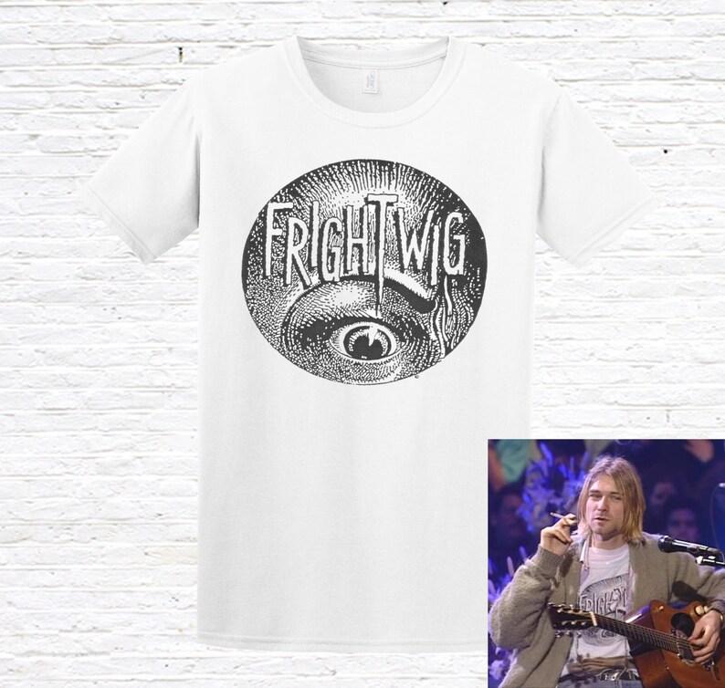 a7f1b1edc Frightwig T-Shirt. as worn by Kurt Cobain | Etsy