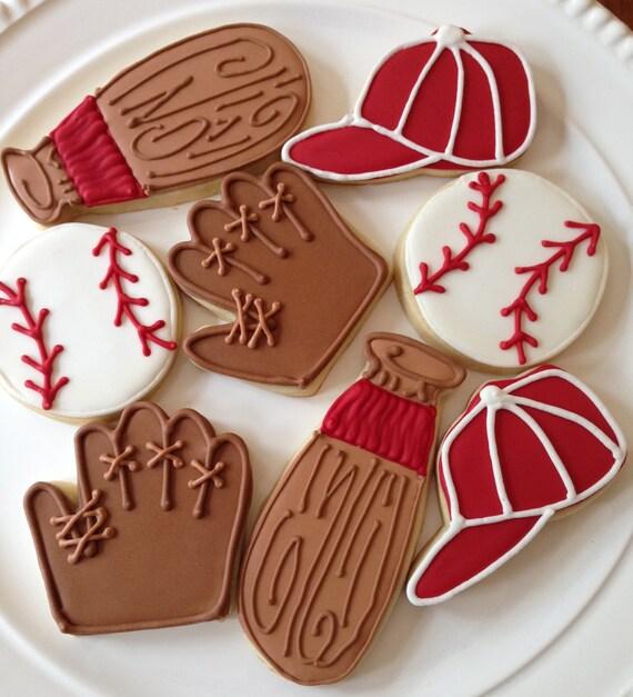 Galletas De Béisbol Partido De Béisbol Una Docena