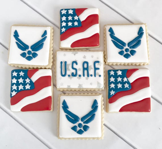 Air Force Cookies Air Force Wedding United States Air Etsy