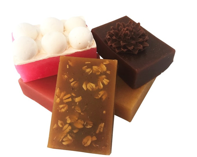 5 Bars of Soap-Handmade Soap Gift Set -Champagne, Red Wine, Pinot Grigio, Ale, Pumpkin Spice-Royal Libations