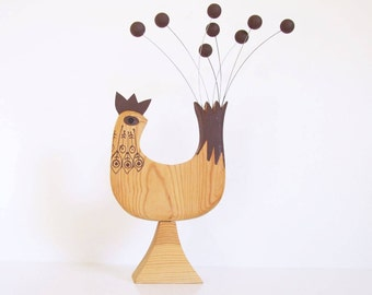 Swedish kinetic bird // Scandinavian vintage bird // 70s bird