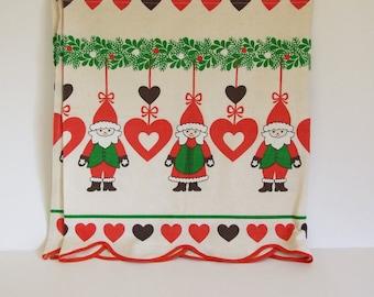 Scandinavian Christmas Window Valance // Little Christmas curtain // Holiday Curtain Sweden