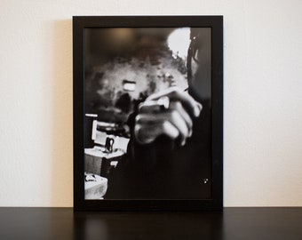Lightsick III - handmade photographic silver gelatin print - analogue photography