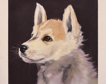 Custom Pet Portrait - Oils Illustration Painting, dogs cats and all other pets