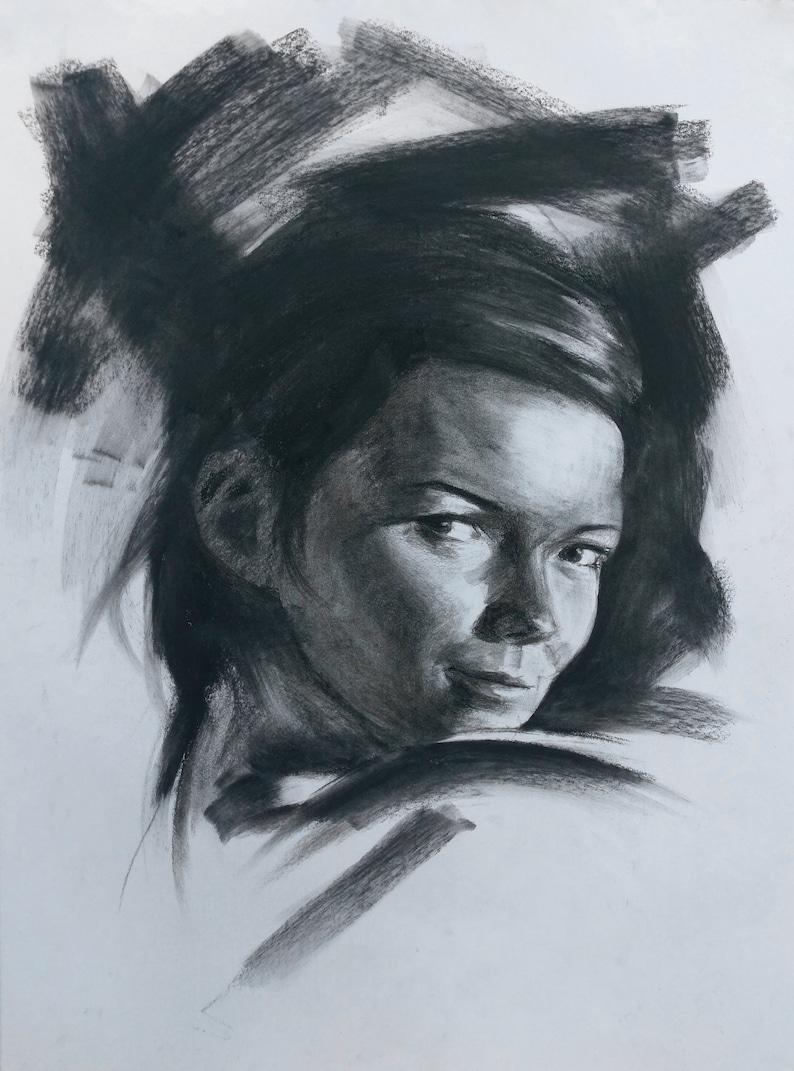 Charcoal Portrait I image 0