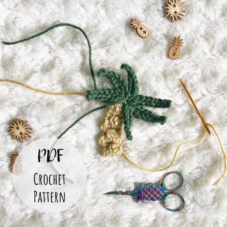 Palm Tree Appliqué Crochet Pattern  Crochet Pattern  Crochet image 0