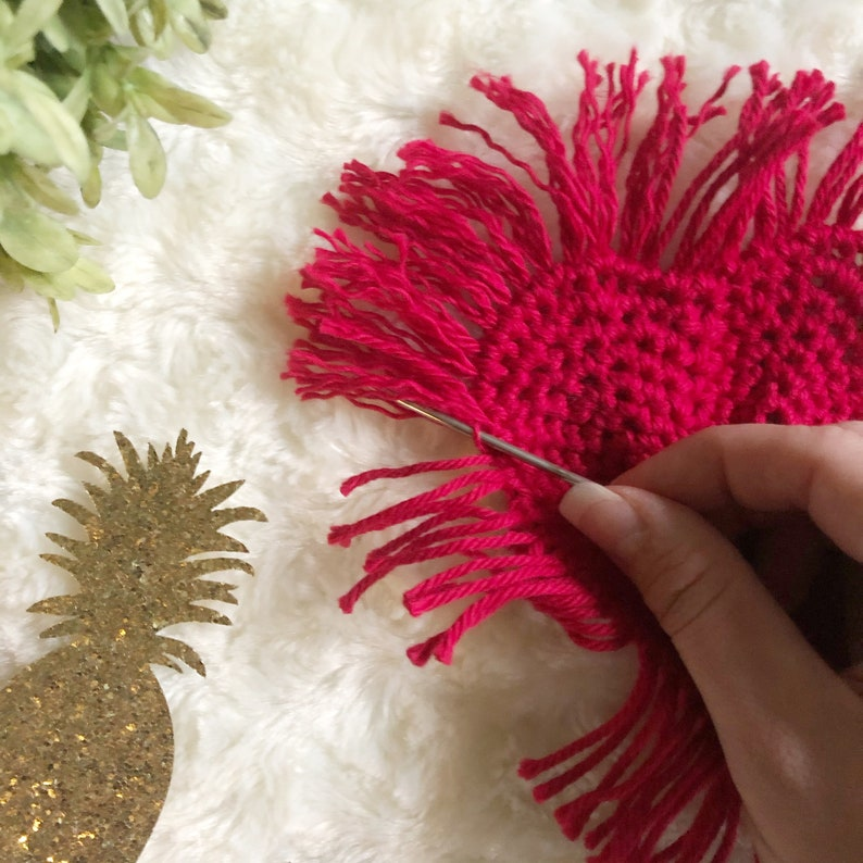 Boho Heart Crochet Coasters PATTERN ONLY Crochet Home Decor Crochet Coasters