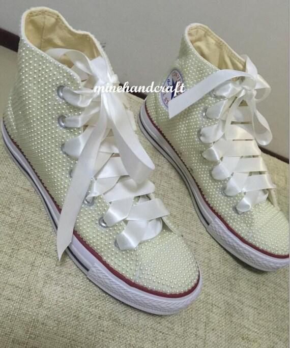cdb543c4593b Ivory Converse Pearled Sneaker Shoes Women Shoes Big Girl