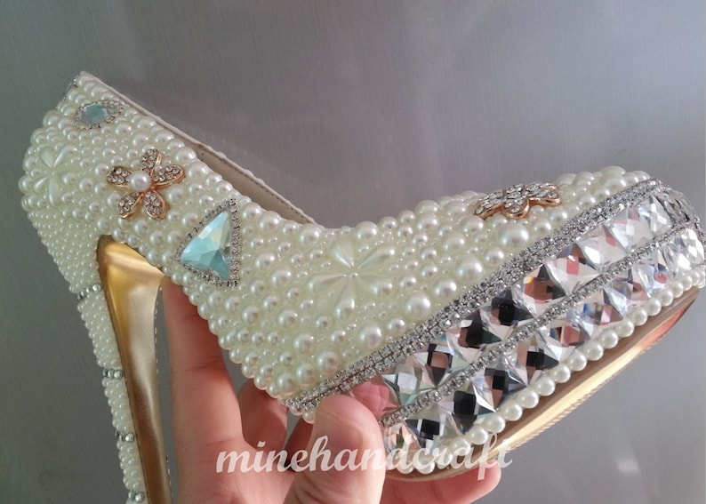 4f246ad70a Luxury Women Shoes Rhinestone Gems Platform High Heels Customize prom shoes  Closed Toe 5 1/2