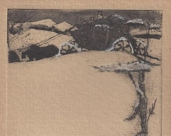 Etching by Acclaimed Texas Artist Margaret Seewald