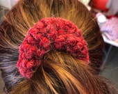 Hand Crocheted Hair Scrunchies - Variety of colors and textures - Mix and Match