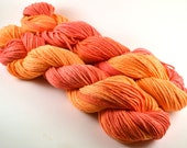 Hand Dyed Organic Cotton Yarn - Worsted weight - 4TH of JULY CANYON