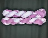 Sport weight Cotton Yarn, 100% Organic Cotton, Hand Dyed Yarn, Purple Yarn