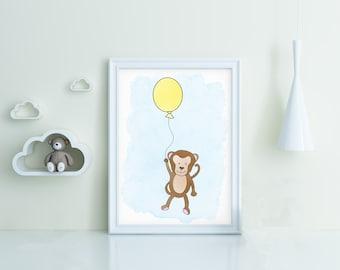Monkey downloadable wall art