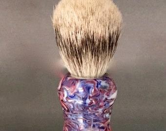 PRICE REDUCTION! Resin Infused Pinecone Silvertip Badger Shaving Brush