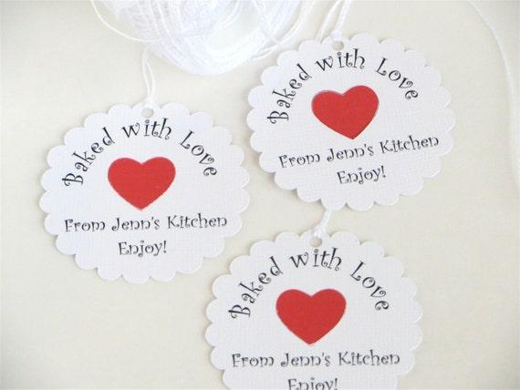 baked food tags food gift tags bake sale tags cookie exchange