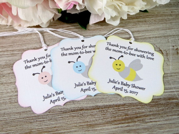 Mom To Bee Baby Shower Favor Tags Mommy To Be Favor Label Etsy