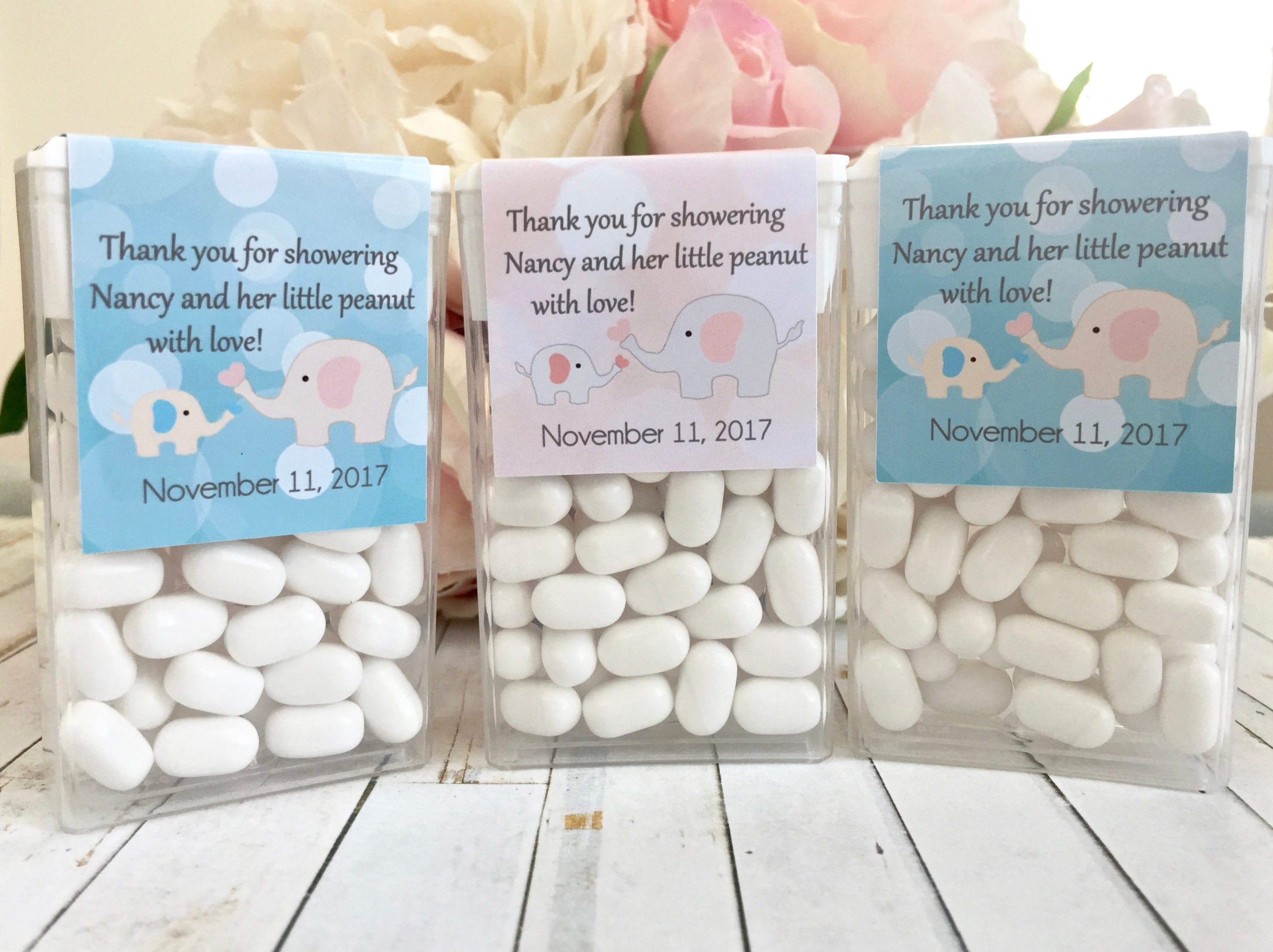 Little Peanut Baby Shower Favors Labels Elephant Baby Shower Etsy