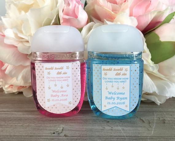 Baby sprinkle favor label hand sanitizer label Sprinkled with love baby shower favor Twinkle Twinkle Little Star Baby Shower favor