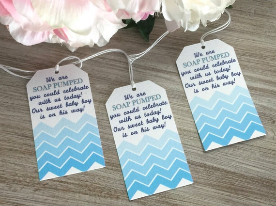 Baby Shower Favor Tags Soap Baby Shower Favor Tags Blue Etsy
