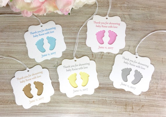 Baby Shower Favor Tags Baby Shower Party Favor Tag Baby Shower