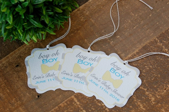 Little Man Baby Shower Favor Tags Bow Tie Baby Shower Favor Etsy