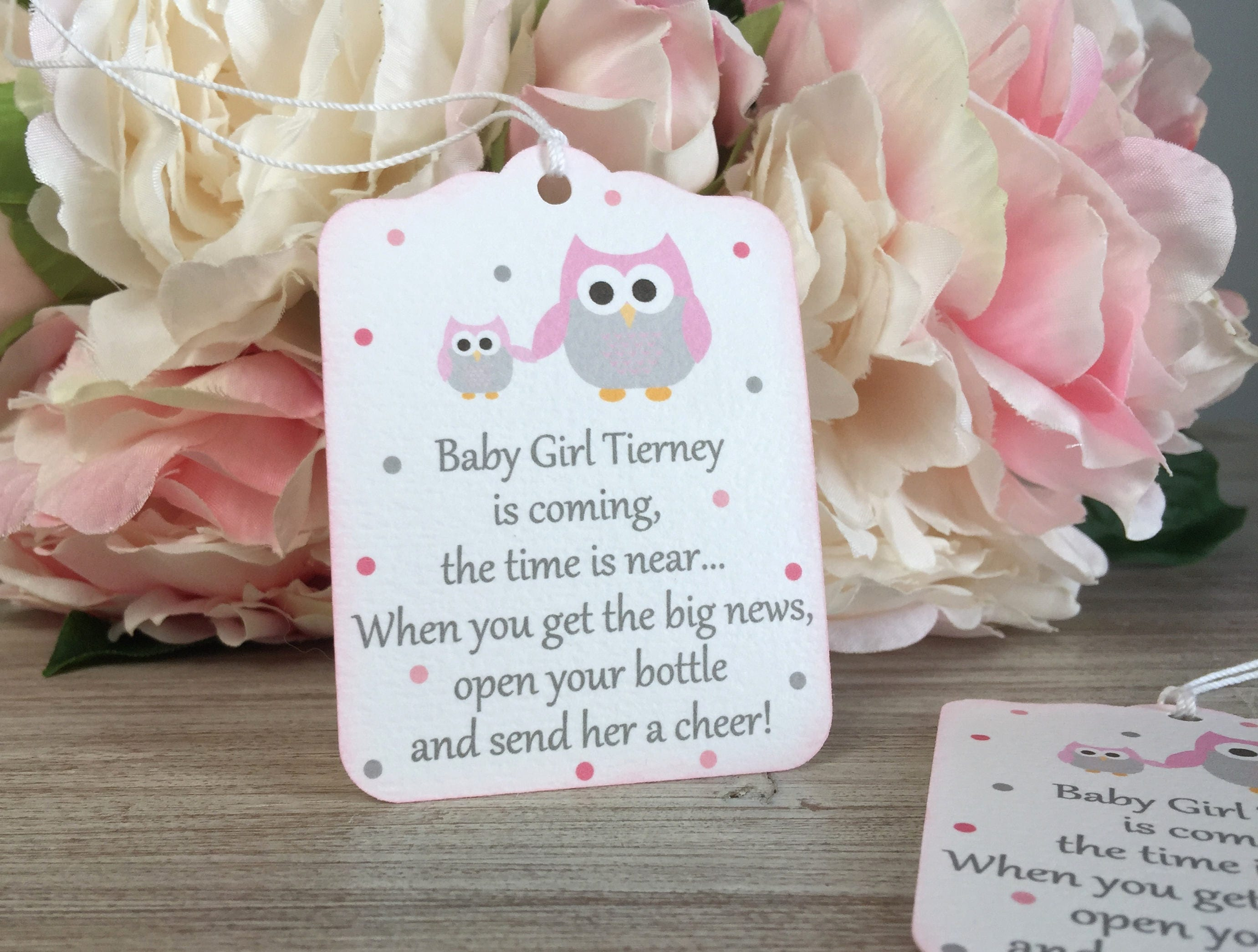 Owl Baby Shower Favor Tag Owl First Birthday Party Favor Tag Etsy