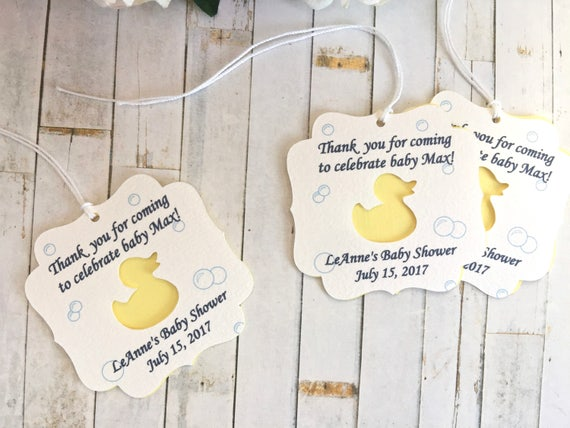 Ducky Baby Shower Baby Shower Nail Polish Tag,Favor Tags Rubber Ducky Shower