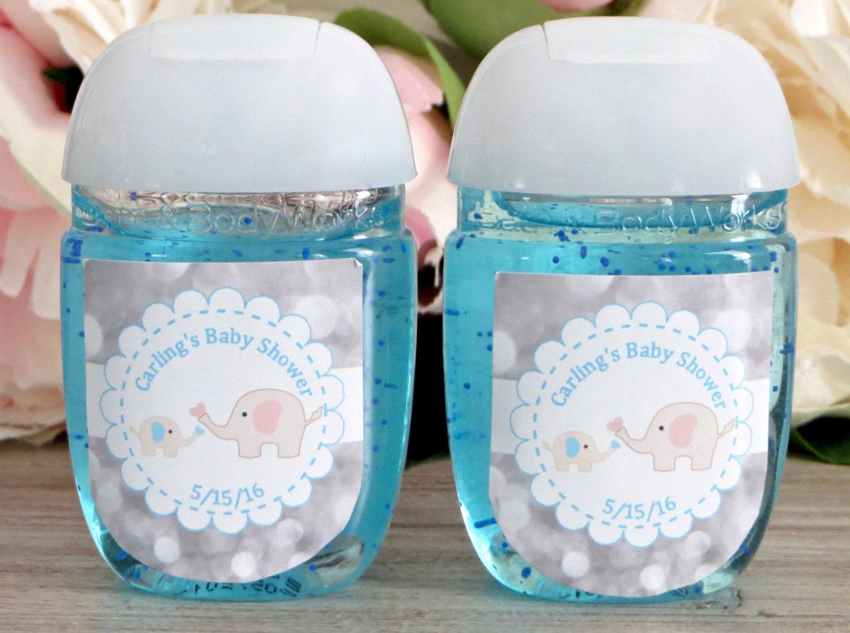 Elephant Baby Shower Favor Labels Hand Sanitizer Favor Label Etsy