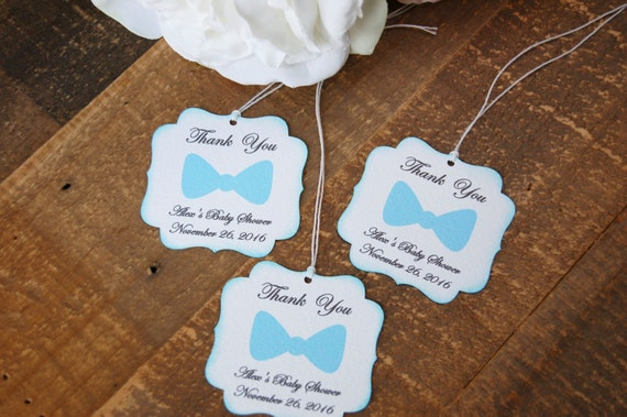 Little Man Baby Shower Favor Tags Baby Shower Favors Boy Bow Tie