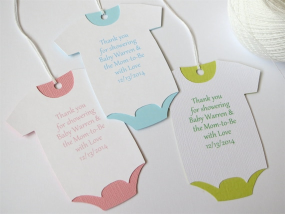 Large Baby Shower Thank You Tags Custom Baby Shower Favor Tags